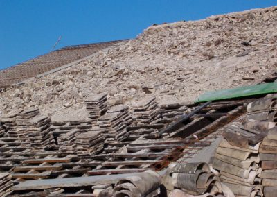 Antiguo tejado bodegas pajarete